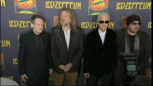 Led Zeppelin promotes their reunion concert film