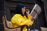 Bhutan&#39;s Queen Mother Ashi Dorji Wangmo Wangchuck reads extracts from her book &quot;Treasures of the Thunder Dragon: A Portrait of Bhutan,&quot; at the Jaipur Literary Festival in Jaipur in 2010. South Asia&#39;s love of literature festivals has spread to the tiny Himalayan kingdom of Bhutan, which features in many an exotic travelogue but is pretty much a blank space on the global literary map