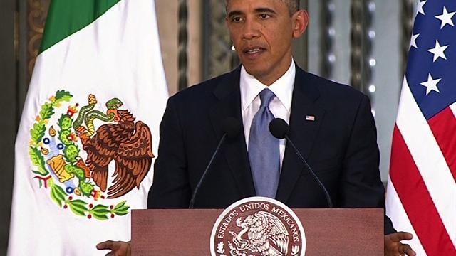 "Obama: U.S.-Mexico partnership can't get ""bogged down"" by border debate"
