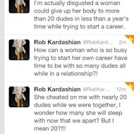 "Rob Kardashian: ""Rita Ora cheated on me and slept with 20 other men"""