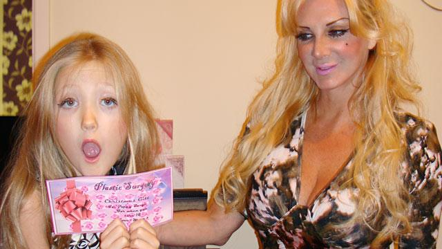 'Human Barbie' Gives 7-Year-Old Daughter Liposuction Voucher