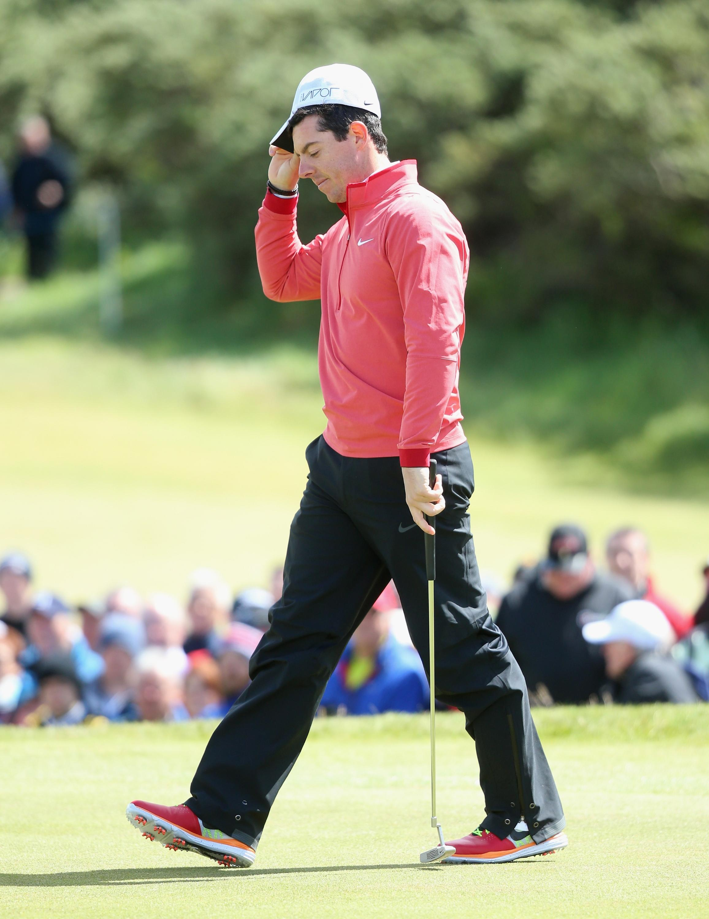 Rory McIlroy struggles to 80 in Irish Open first round