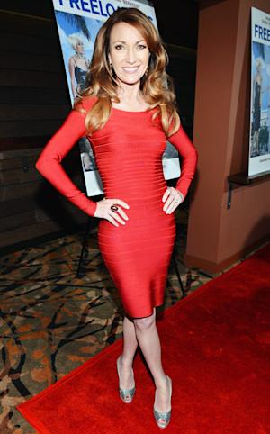 Jane Seymour, 61, Shows Off Stunning Figure in Tight Red Herve Leger Bandage Dress