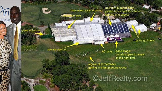 Check Out Michael Jordan's Huge Wedding Tent!