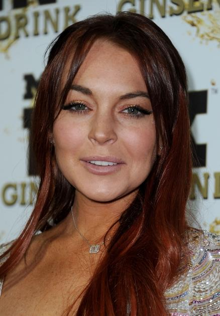 Lindsay Lohan arrives at Mr. Pink Ginseng Drink Launch Party on October 11, 2012 in Beverly Hills, Calif. -- Getty Images