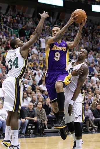 Jazz send Lakers to another road loss, 96-87