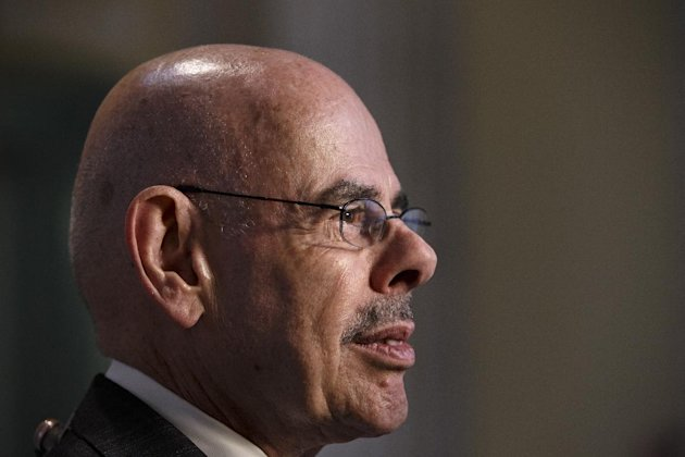 "Democratic Rep. Henry Waxman of California, a liberal force on health issues who helped write and enact the 2010 Affordable Care Act, defends President Obama's health care law during a TV news interview on Capitol Hill in Washington, Wednesday, Feb. 5, 2014. Adding fresh fuel to the political fight over ""Obamacare,"" Republican lawmakers have seized on a Congressional Budget Office report that predicts nationwide job losses because of the health care program. (AP Photo/J. Scott Applewhite)"