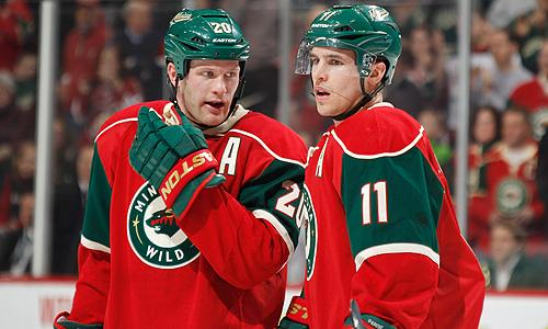 Minnesota Wild's Ryan Suter and Zach Parise