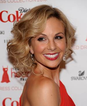 """FILE - In this Feb. 11, 2010 file photo, television personality Elisabeth arrives at The Heart Truth's Red Dress Collection 2010 fashion show in New York. Hasselbeck is staying put as a co-host of """"The View"""" despite reports insisting otherwise. Series co-creator Barbara Walters called that story """"particularly false"""" on the Monday, March 11, 2013 edition of the ABC daytime talk show. (AP Photo/Evan Agostini, File)"""