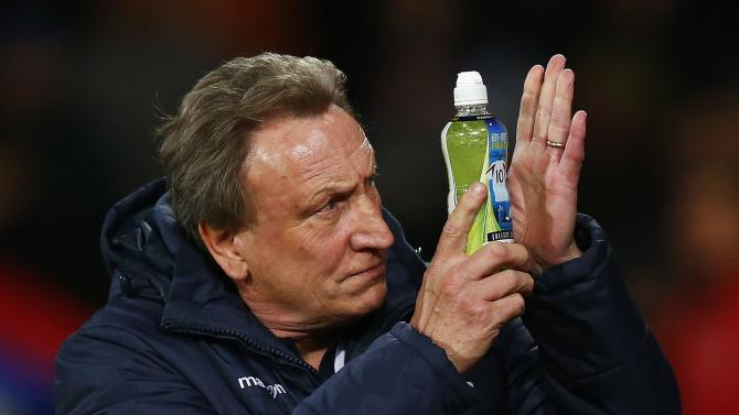 File photograph shows Crystal Palace manager Neil Warnock reacting before their English Premier League soccer match against Aston Villa at Selhurst Park in London