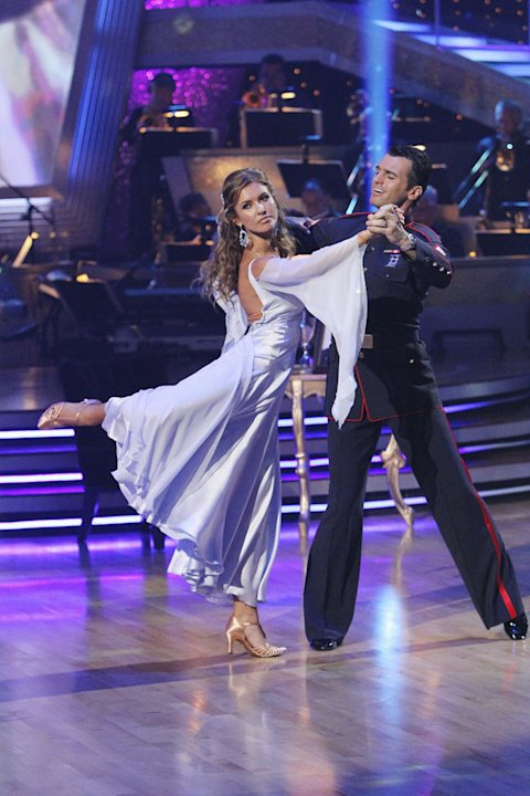 "Audrina Patridge and Tony Dovolani perform on ""Dancing with the Stars."""