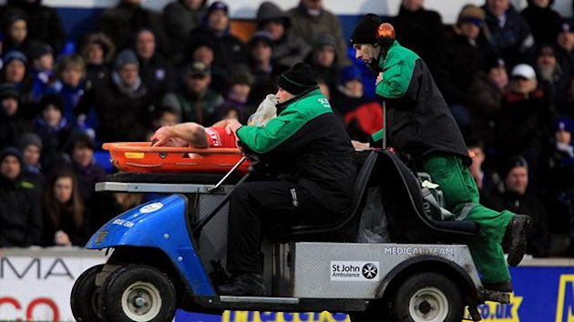 Stephen Dawson was stretchered off during a 1-1 draw at Ipswich in mid-January
