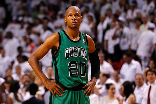 Ray Allen #20 Of The Boston Celtics Looks Getty Images