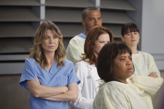 "GREY'S ANATOMY - ""Free Falling"" - In the first hour, ""Free Falling"" (9:00-10:00 p.m.), the fifth-year residents return for the first day of a year that will make or break their careers: Meredith faces"