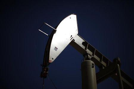A pumpjack drills for oil in the Monterey Shale