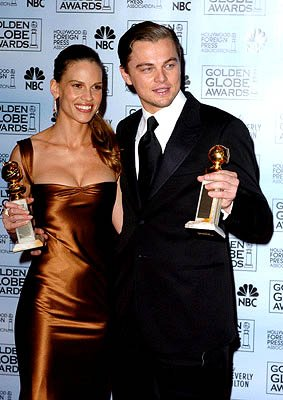 Hilary Swank and Leonardo DiCaprio