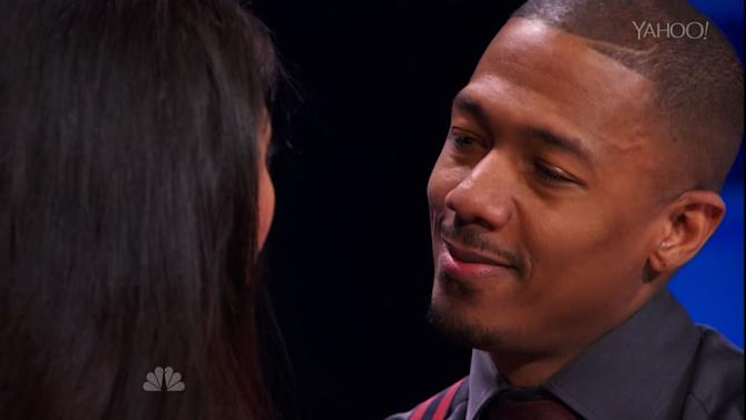Nick Cannon Learns to kiss on 'America's Got Talent'
