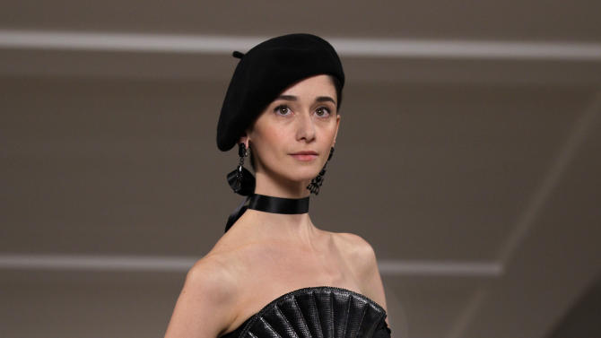 The Ralph Lauren Spring 2013 collection is modeled during Fashion Week in New York on Thursday, Sept. 13, 2012. (AP Photo/Richard Drew)