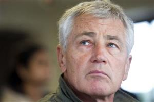 U.S. Secretary of Defense Hagel observes training at the RLFC, just miles south of the DMZ, in South Korea