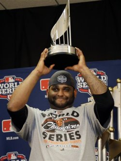 San Francisco&amp;#39;s Pablo Sandoval was named the World Series MVP. (AP)