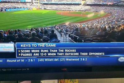 Padres introduce new advanced baseball statistic or something