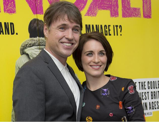 British actors Jonny Owen and Vicky McClure arrive together for a screening of their new film Svengali, at the Rich Mix cinema in east London, Tuesday, March 11, 2014. (Photo by Joel Ryan/Invision/AP
