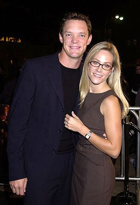 Matthew Lillard and wife at the Westwood premiere of 13 Ghosts