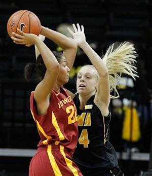 Iowa women beat No. 22 Iowa State 50-42