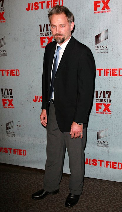 "David Meunier attends the Season 3 premiere of FX's ""Justified"" at the Directors Guild on January 10, 2012 in Los Angeles, California."