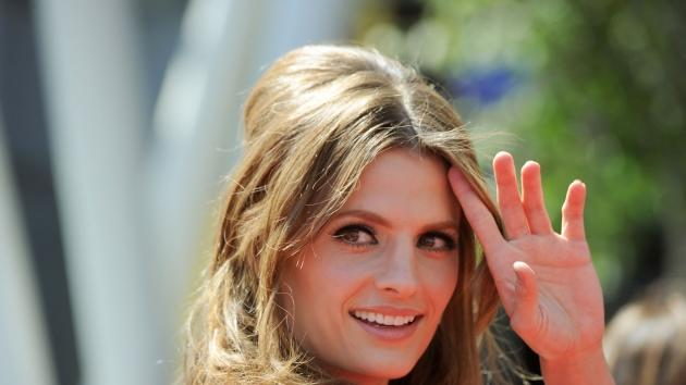 Stana Katic arrives at 62nd Primetime Creative Arts Emmy Awards at the Nokia Theatre L.A. Live in Los Angeles on August 21, 2010 -- Getty Images