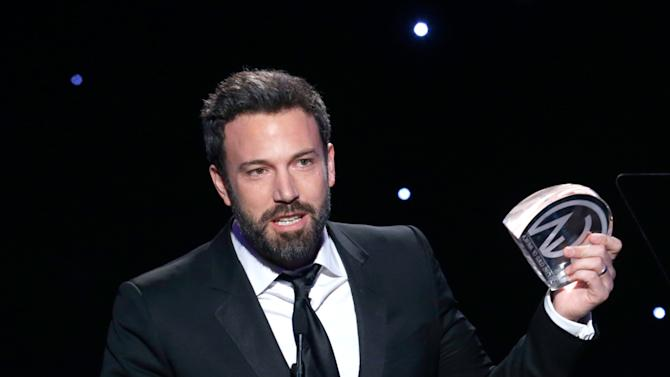 IMAGE DISTRIBUTED FOR THE PRODUCERS GUILD - Ben Affleck accepts the Zanuck award for outstanding producer of theatrical motion pictures at the 24th Annual Producers Guild (PGA) Awards at the Beverly Hilton Hotel on Saturday Jan. 26, 2013, in Beverly Hills, Calif. (Photo by Todd Williamson/Invision for The Producers Guild/AP Images)