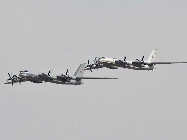 Reuters russian tu 95 bombers fly during a joint kazakh russian