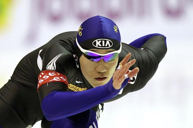 Korean Tae-Bum Mo Competes The 500 M Race  AFP PHOTO / ANP / VINCENT JANNIK --- Netherlands Out --- AFP/Getty Images