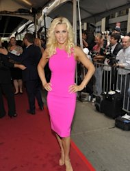 Jenny McCarthy of &#39;Love In The Wild&#39; is all smiles at the 2012 NBC Upfront Presentation in New York City on May 14, 2012