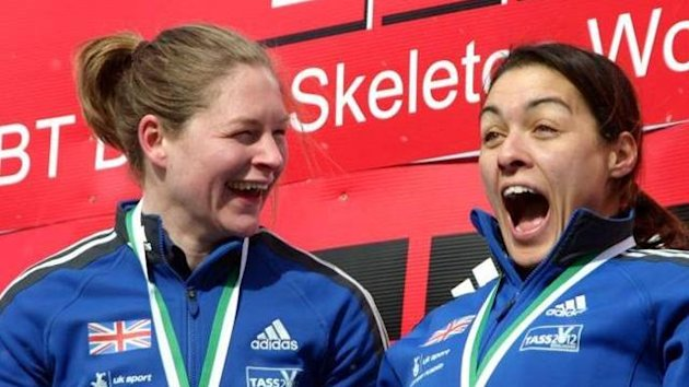 British bobsleigh aces Gillian Cooke (l) and Nicola Minichiello