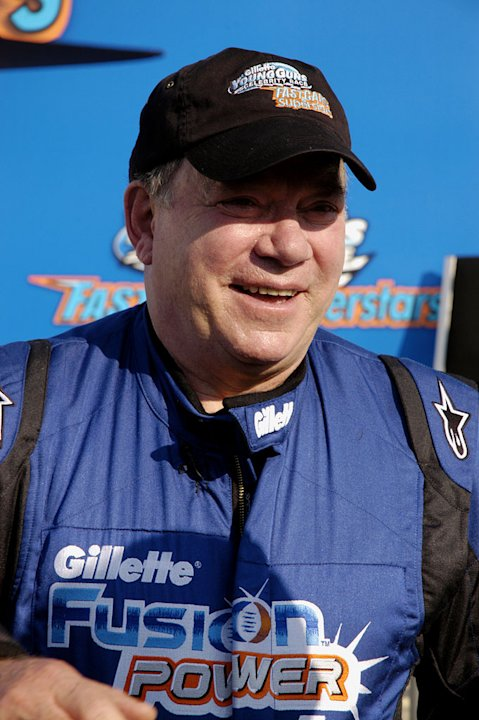 William Shatner competes in Fast Cars &amp; Superstars -- The Gillette Young Guns Celebrity Race. 