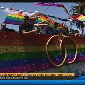 First ever 'Navy Gay Pride' events on military base