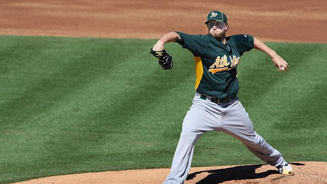 MLB: Spring Training-Oakland Athletics at Los Angeles Angels