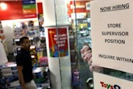 &lt;p&gt;A &quot;now hiring&quot; sign is viewed in the window of a toy store in New York City. The US Federal Reserve took aim at slow growth and high joblessness, announcing a new, open-ended $40 billion per month bond-buying program as it slashed its 2012 growth forecast.&lt;/p&gt;