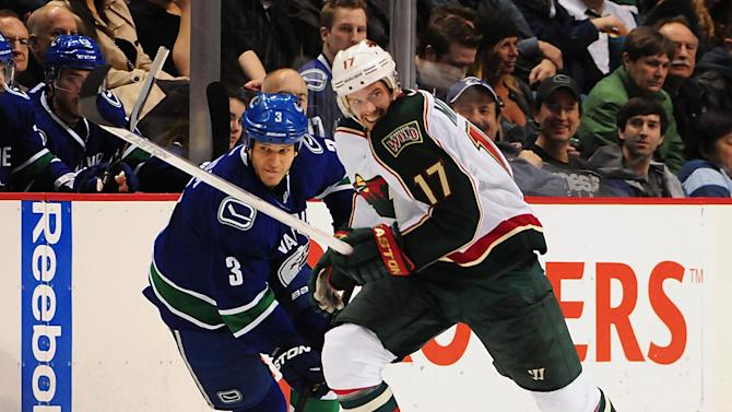 NHL: Minnesota Wild at Vancouver Canucks