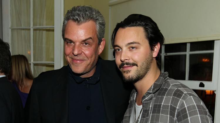 "IMAGE DISTRIBUTED FOR STARZ - Danny Huston, left, and Jack Huston pose together at the after party for the premiere of ""Spartacus: War of the Damned"" on Tuesday, Jan. 22, 2013 in Los Angeles. ""Spartacus: War of the Damned"" premieres Friday, Jan. 25 at 9PM on STARZ. (Photo by Matt Sayles/Invision for STARZ/AP Images)"