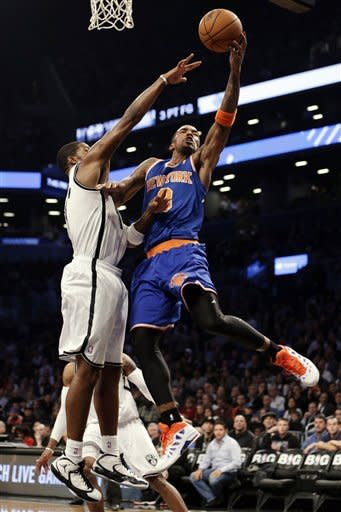 Anthony scores 45, Knicks rally to beat Nets