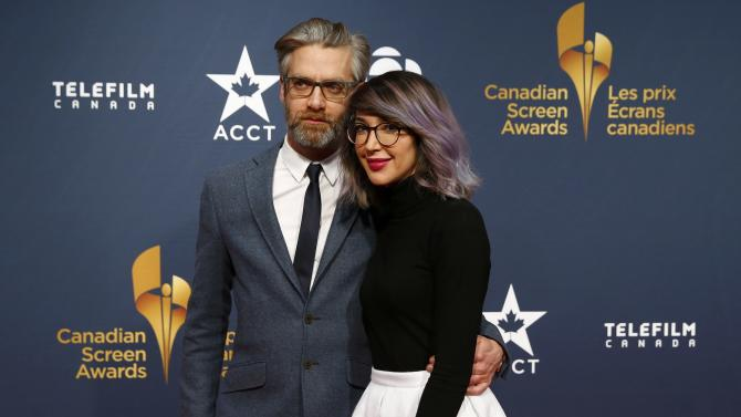 Sylvain Corbeil and Maina Militza arrive at the 2015 Canadian Screen Awards in Toronto