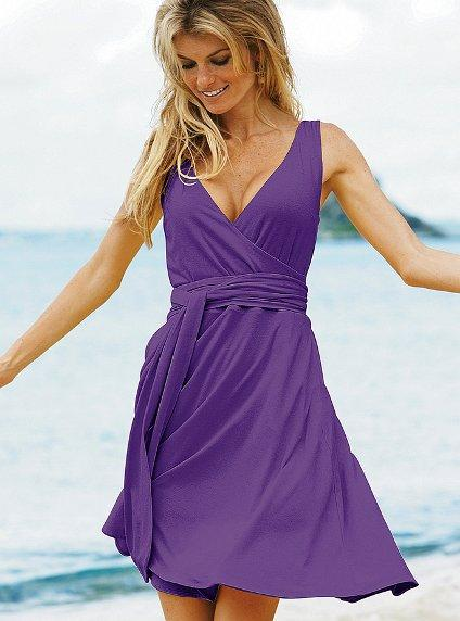Sleeveless Wrap Dress, $49.50