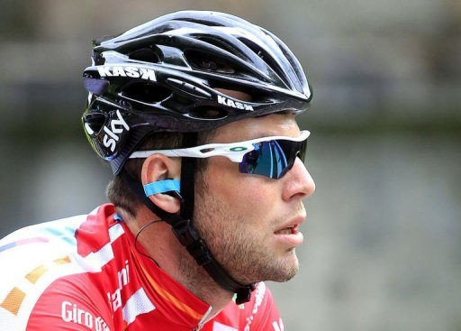 Britain's world champion Mark Cavendish