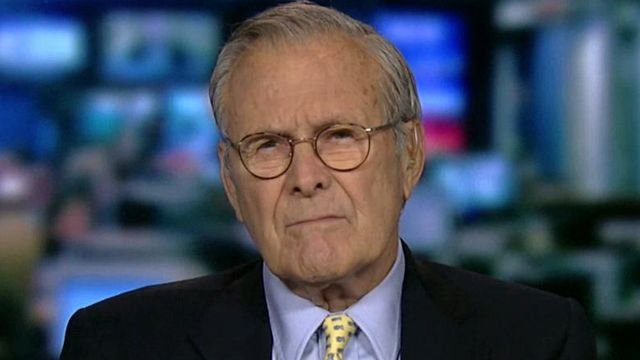 Rumsfeld talks Gitmo, drone strike program, terrorism threat
