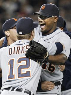 Tigers dance atop vanquished Yankees in Game 5
