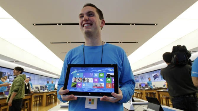 Price, details of Surface models from Microsoft