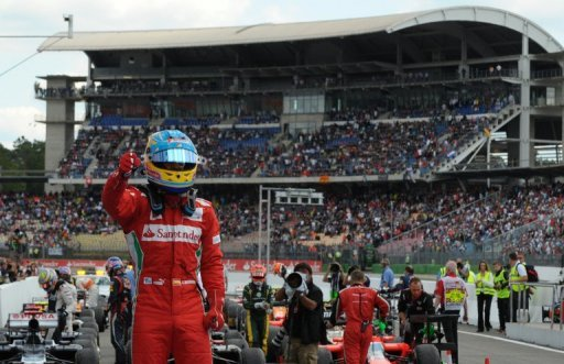 It was Fernando Alonso's third win this year after his triumphs in Malaysia and at the European Grand Prix