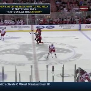 Aaron Ekblad Hit on Riley Sheahan (10:39/2nd)